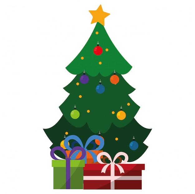Desenho De Arvore De Natal Vetor Premium
