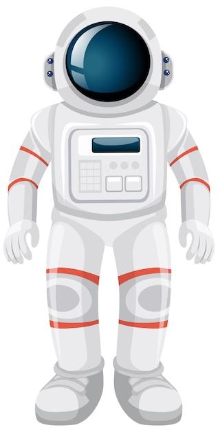 Desenho de astronauta isolado em fundo branco Vetor grátis