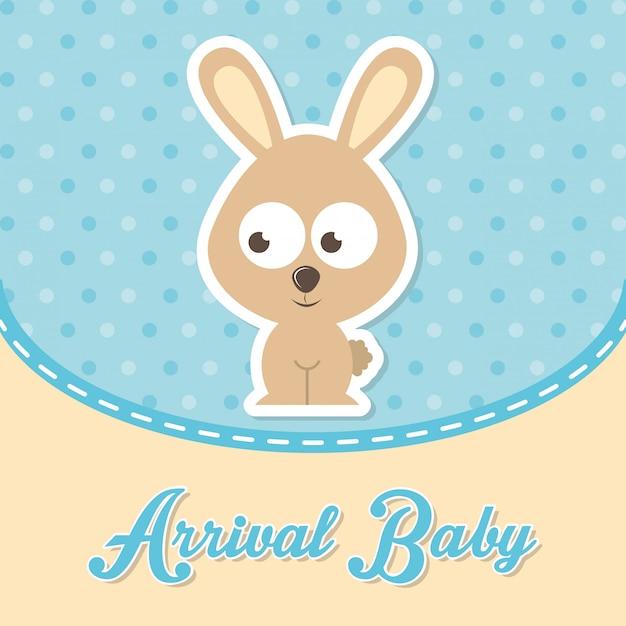 Desenho de bebê sobre ilustração vetorial de fundo pontilhada Vetor Premium