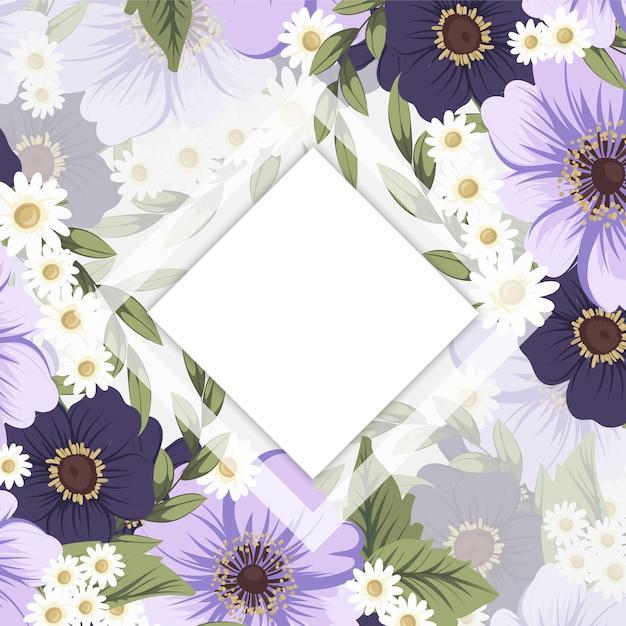 Desenho de borda de flor branco e preto Vetor grátis