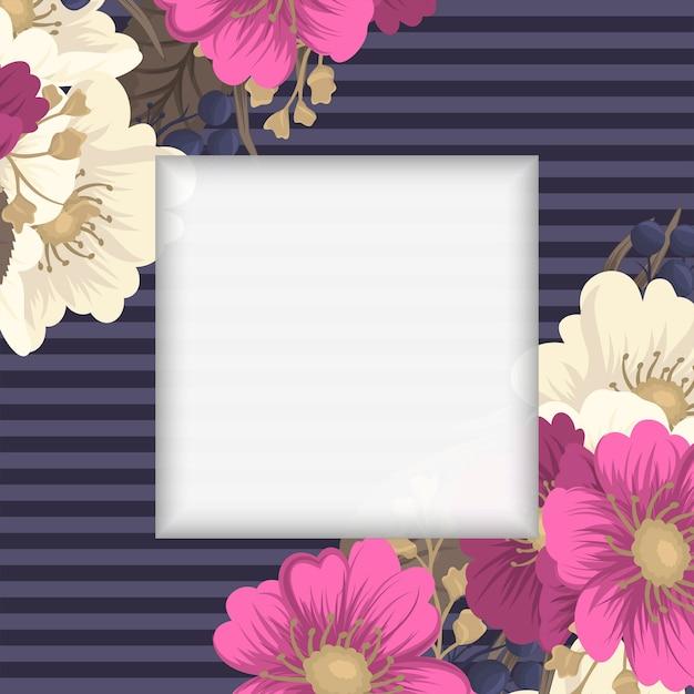 Desenho de borda de flor - flor rosa quente Vetor grátis