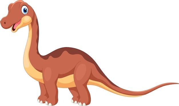 Desenho de brontossauro fofo Vetor Premium