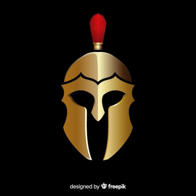 Desenho de capacete espartano Vetor grátis