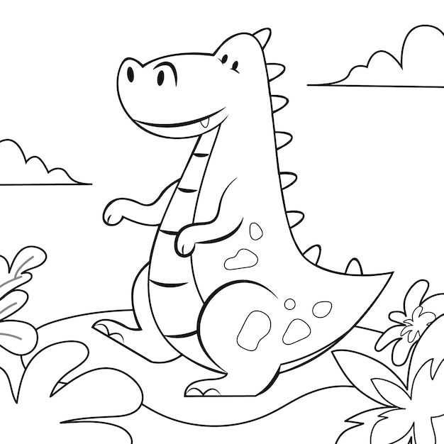 Desenho de colorir para crianças Vetor grátis
