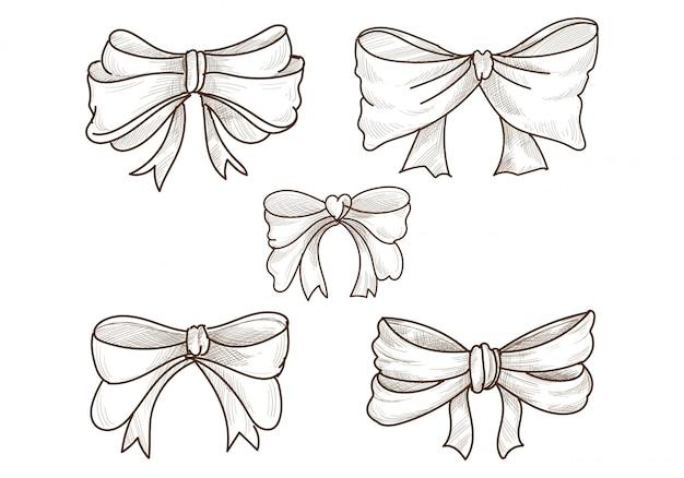 Desenho de conjunto de arcos de esboço desenhado à mão Vetor grátis
