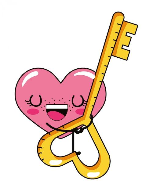 Desenho De Coracao De Amor Vetor Premium