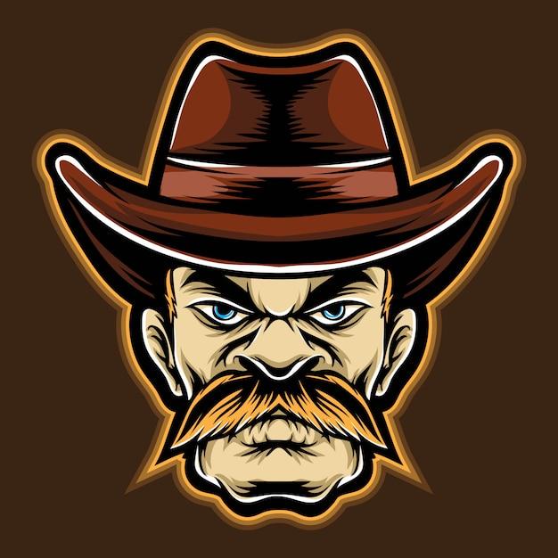 Desenho de cowboy Vetor Premium