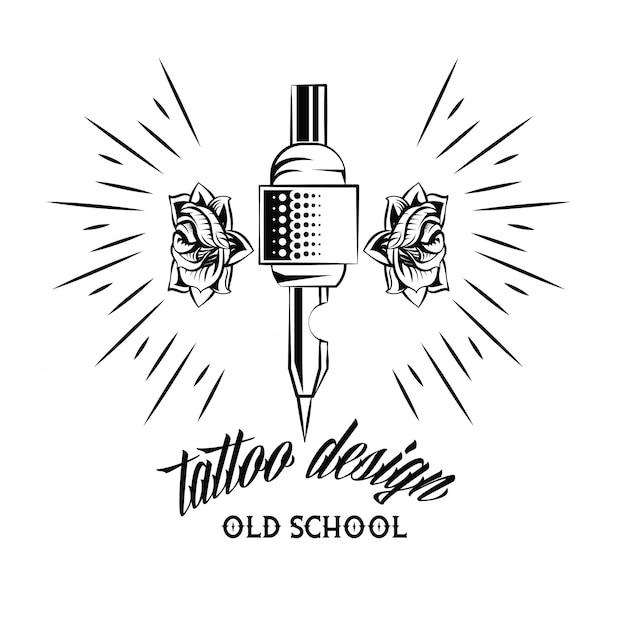 Desenho De Desenho De Maquina De Tatuagem De Velha Escola Vetor