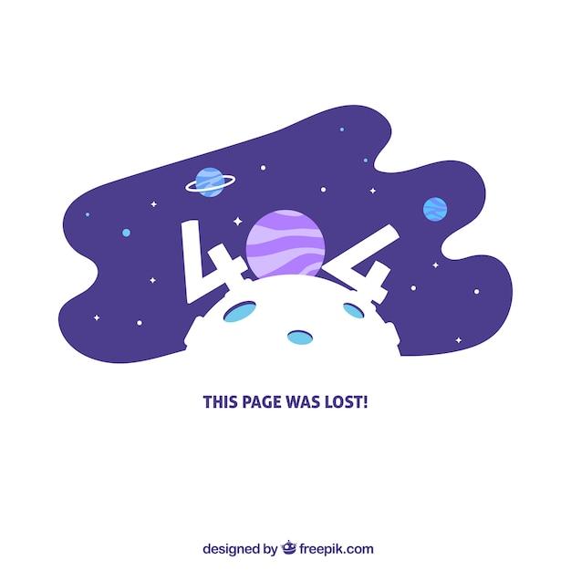 Desenho de erro 404 com espaço Vetor grátis
