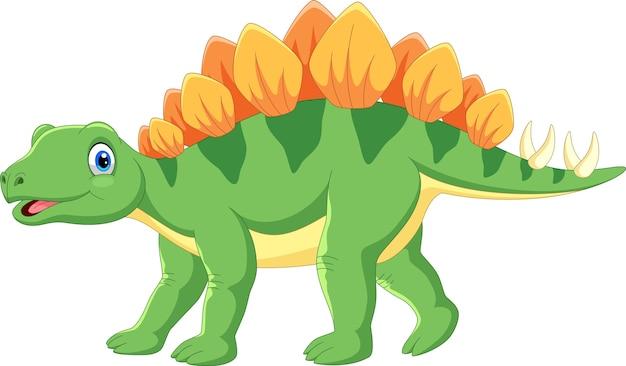 Desenho de estegossauro fofo Vetor Premium
