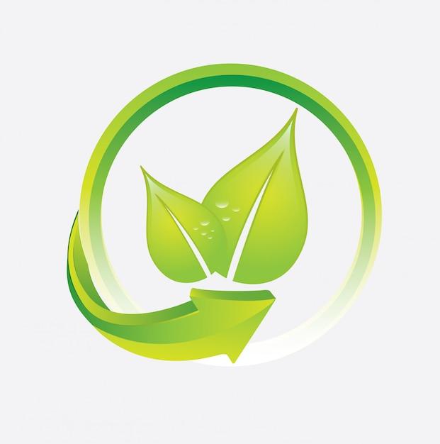 Desenho de folhas Vetor Premium