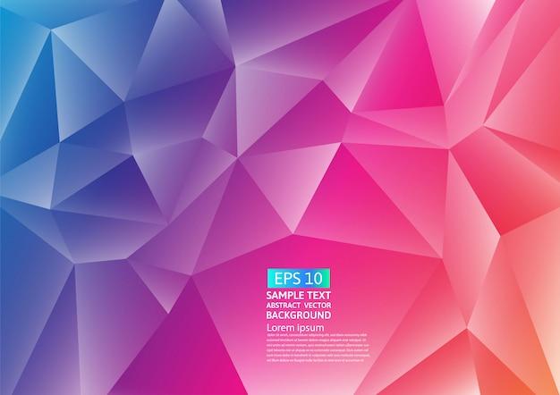 Desenho de fundo abstrato colorido polígono Vetor Premium