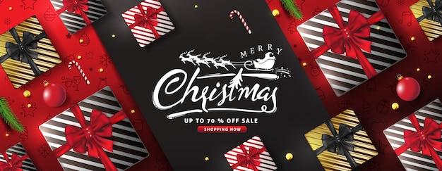 Desenho de fundo feliz natal Vetor Premium