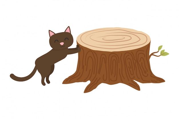Desenho de gato Vetor grátis