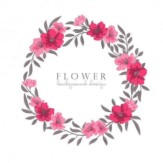 Desenho de grinaldas de flores Vetor grátis