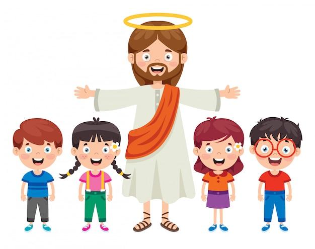 Desenho de jesus cristo Vetor Premium