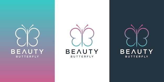 Desenho de logotipo de borboleta Vetor Premium