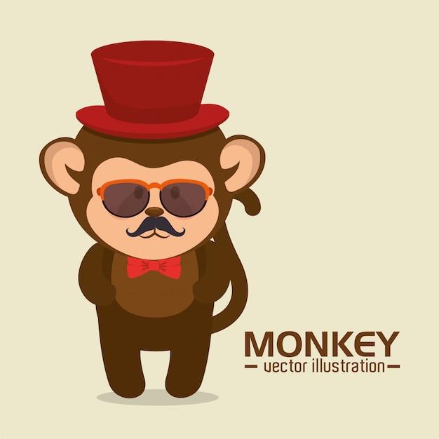 ee7dac11d4623 Desenho de macaco engraçado