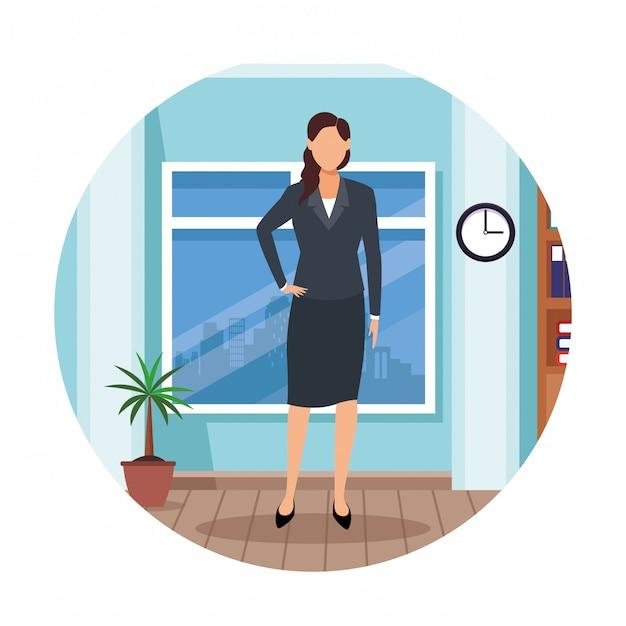 Desenho de mulher executiva Vetor Premium