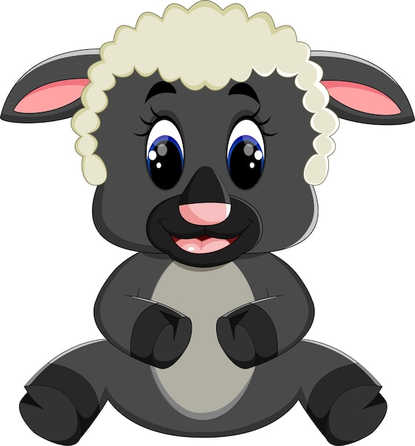 Desenho de ovelhas Vetor Premium