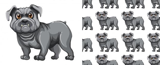 Desenho de padrão animal sem costura e isolado Vetor grátis