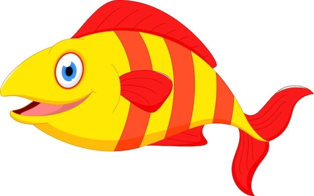 Desenho De Peixe Bonito Vetor Premium