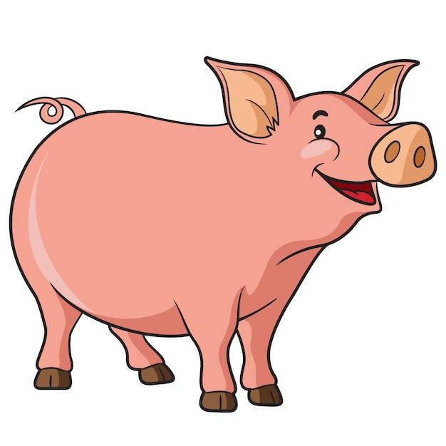 Desenho de porco Vetor Premium