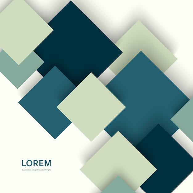 Desenho de quadrados de vetor Vetor Premium