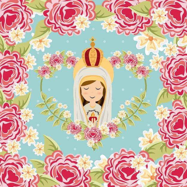 Desenho de religião católica Vetor Premium