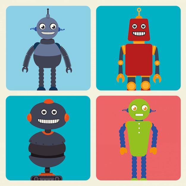 Desenho de robô engraçado Vetor grátis