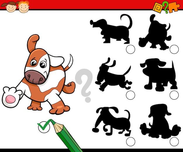 Desenho De Sombras Com Cães Vetor Premium