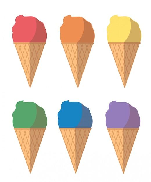 Desenho de sorvete pastel Vetor Premium