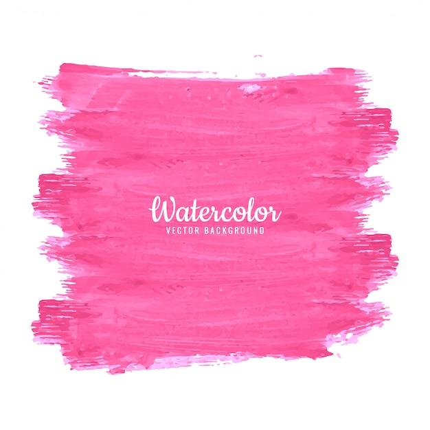 Desenho de traços de aquarela abstrata Vetor Premium