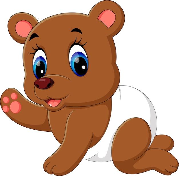 Desenho De Urso De Bebe Vetor Premium