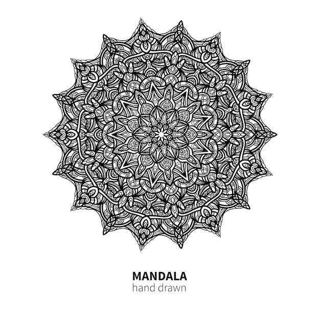 Desenho de vetor de flor de mandala Vetor Premium
