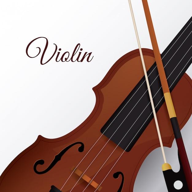 Desenho De Violino Vetor Premium