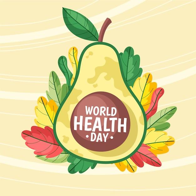 Desenho do dia mundial da saúde Vetor grátis