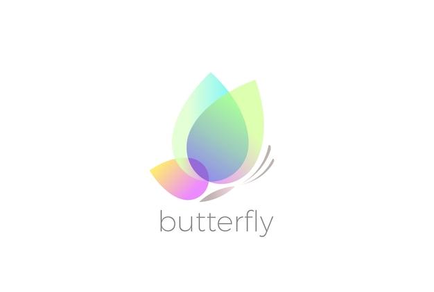Desenho do logotipo da borboleta isolado no branco Vetor grátis