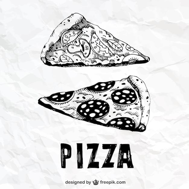 desenho fatias de pizza baixar vetores grátis