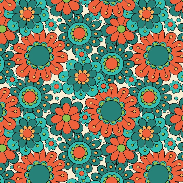 Desenho floral descolado Vetor grátis