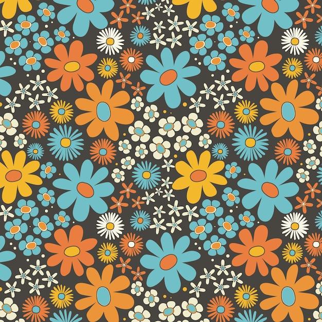 Desenho floral vívido e elegante Vetor grátis