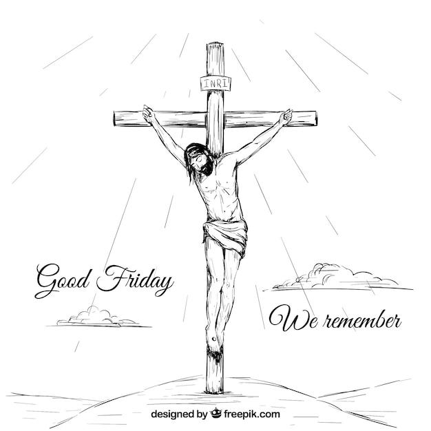 Desenho Fundo Cristo Vetor Gratis