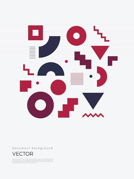 Desenho geométrico abstrato Vetor Premium