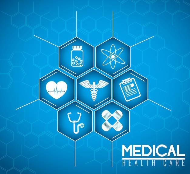 Desenho médico. Vetor Premium