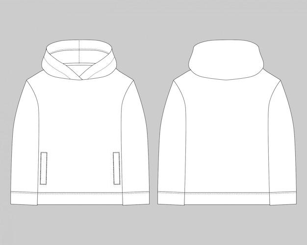 Desenho técnico para homens com capuz Vetor Premium
