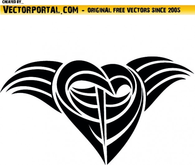 Desenho Tribal Preto Tatuagem Vetor Gratis