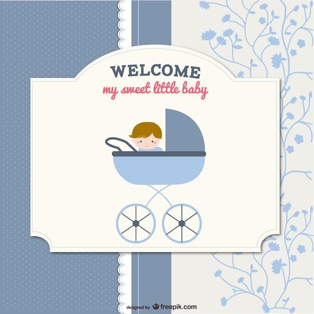 Desenho vetorial cartão de bebê Vetor grátis