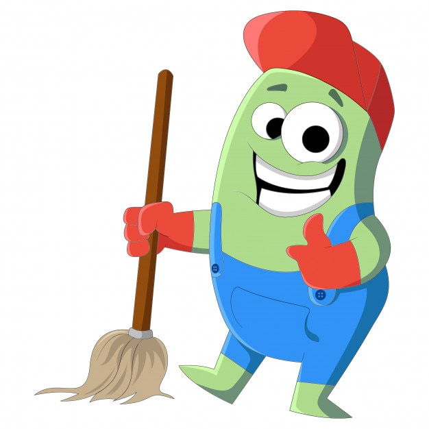 Desenho vetorial de limpeza homem com esfreg o baixar - Limpiador de errores gratis ...