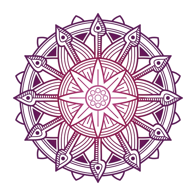 Desenho Vetorial De Mandala Colorida Mandala De Flor Asiatica