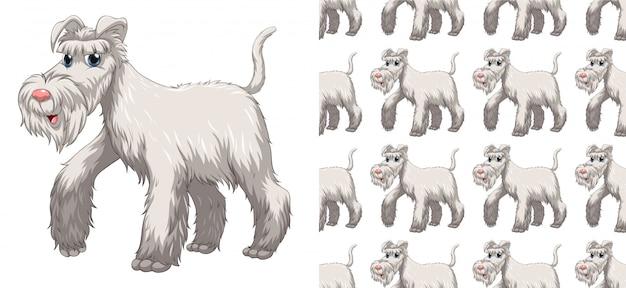 Desenhos animados animais padrão sem emenda e isolado Vetor grátis
